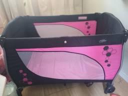 Berço balanço do trocador mobile baby rosa