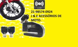Título do anúncio: Trava Disco C/ Alarme Cadeado Antifurto Freio Moto Universal