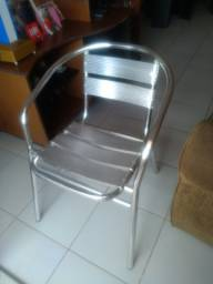 Cadeiras de alumínio