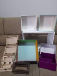 Lote caixas mdf  para artesanato