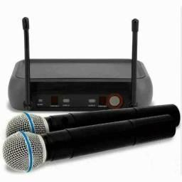 Kit Microfone Sem Fio Duplo Weisre no PGX-51 UHF Profissional Bivolt 110 ou 220v ??