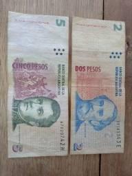 Notas 2 e cinco pesos