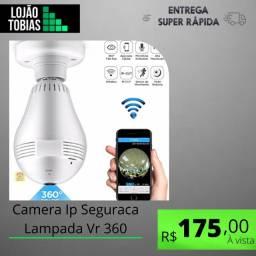 Título do anúncio: Camera Ip Seguraca Lampada Vr 360 Panoramica Espia Wifi V380