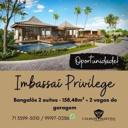 Imbassaí Privillege - 158m², Bangalôs 2 suítes - Oportunidade