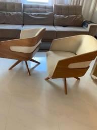 Cadeiras super luxo
