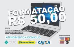 Formatação Notebooks e PCs R$ 50,00