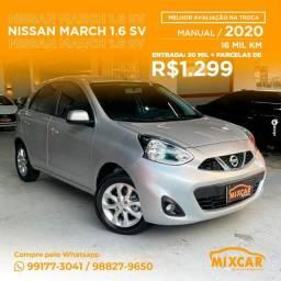 Título do anúncio: Nissan March SV 1.6 2020! Impecável!