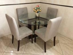 Mesa jantar 4 cadeiras Herval