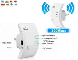 Repetidor Wi-fi Amplificador Sinal Wifi 300mbps Botão Wps, Parede