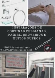 Título do anúncio: Instalação de persianas, acessórios de banheiro, prateleiras e suporte de tv