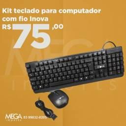 Kit teclado e mouse com fio