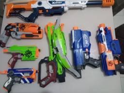 Título do anúncio: Vendo 6 armas nerf