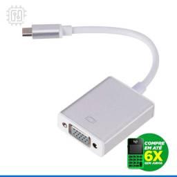 Título do anúncio: Cabo Adaptador Usb 3.1 Tipo C Para Vga Macbook Notebook DeX Mode