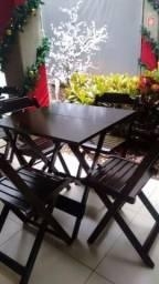 Mesas de madeira dobráveis p/ bares, restaurante e sua casa