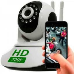 Câmeras ip imagem de ótima qualidade HD 720p via wi fi entrada cartão de memoria