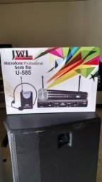 Microfone sem fio duplo JWL