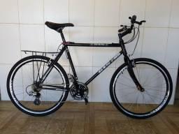 Bicicleta aro 26 aero reformada bagageiro