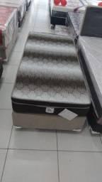 :: Promoçao Cama Box + Colchao Light ortopédico selado Ortobom Solteiro 88x188 Confira