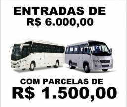 Ônibus e Micro-ônibus Novos e Seminovos (Entrada+Parcelas)