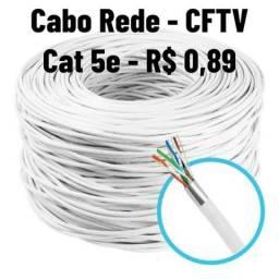 Cabo de Rede Cat 5e - CFTV 4 Pares