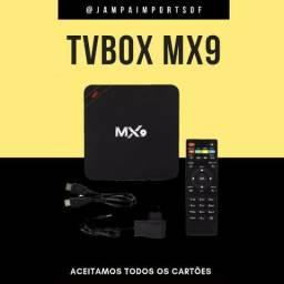 Tv box mx9 4gb produto novo com garantia