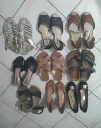 Sandálias número 37, qualquer peça 10 reais.