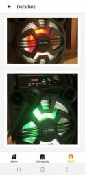 Caixa de Som KTS 1090 com Bluetooth Microfone e Controle Remoto Inclusos
