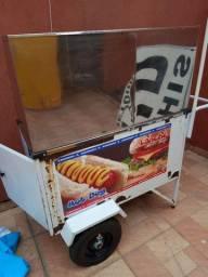 Vendo carrinho de kikao inox
