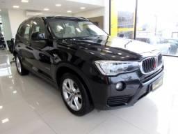 BMW X3 2016 2.0 20I 4X4 16V GASOLINA 4P AUTOMÁTICA PRETA COMPLETA TOP DE LINHA ÚNICO DO