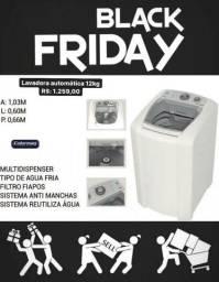 Lavadora automática 12kg Black Friday imperdível
