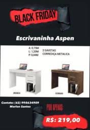 Escrivaninha Aspen/preço promocional BLACK FRIDAY BARATINHO