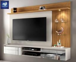 """Oferta Black Home Suspenso para TV até 60"""" com espelhos e LED #FreteGRÁTIS*"""