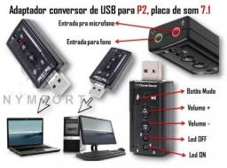 COD: 0092 Placa De Som Usb 7.1 Canais 3d Audiop2 Pc Notebook