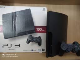 Playstation 3 Slim 160GB Hen + 5 Jogos + Garantia