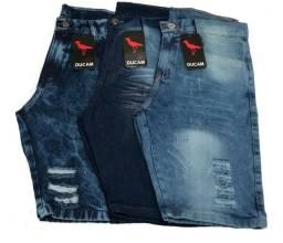 Kit 3 Bermudas Jeans Masculina