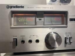 Tape deck gradiente das antigas cd-2600 vu colorido