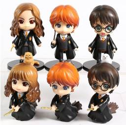 Kit personagens Harry Potter Hermione e Rony Weasley