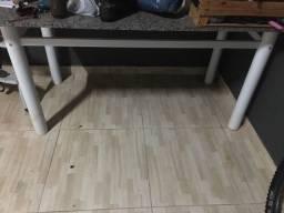 Mesa granito 6 cadeiras