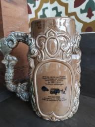 Caneca de Chopp antiga de porcelana