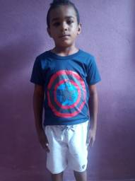 Camisa infantil de 3 a 10 anos