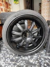 Título do anúncio: Aro 18 multifuros com pneu (URGENTE)