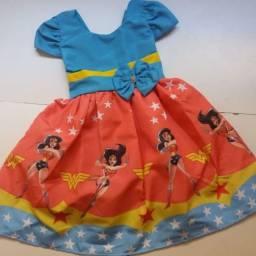 Vestido Mulher Maravilha Tamanho 2