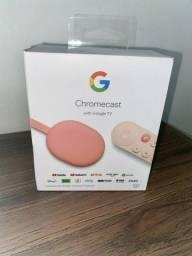 Título do anúncio: Chromecast 4º geração; Semi novo; Completo.
