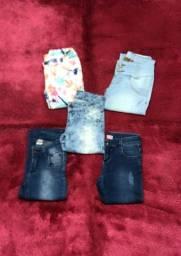 Lote 5 calças infantis n10