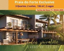 Top Lançamento: Praia do Forte Exclusive, 3 Quartos, 2 suítes, 136 m², 2 vagas,