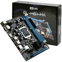 PLACA MAE LGA 1155 PARA INTEL DE 2a e 3a GERAÇÃO, GOLINE, SLOT DDR3,, novo