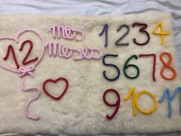 Kit mesversário tricotin números