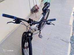 Título do anúncio: Bicicleta full suspension aro 26 quadro de alumínio montada com peças modernas