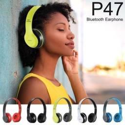 Fone de Ouvido Sem Fio Bluetooth Dobrável P47