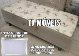 Cama Solteiro + 2 TRAVESSEIROS BRINDE %1=@
